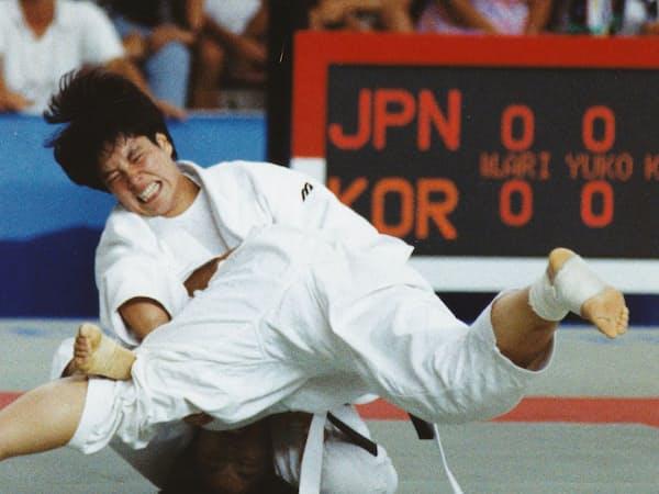 田辺選手は1992年バルセロナ五輪から2大会連続で銀メダルを獲得(写真はバルセロナ五輪)