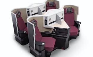JALスカイスイート3のシート幅は52センチメートルで、17インチ液晶モニターが付く