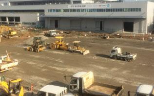 豊洲市場の建設中は建材需要も盛り上がりをみせた(2016年3月、東京都江東区)
