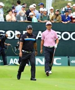 日本シニアオープンはマークセン(左)、鈴木両選手のマッチレースに=JGA提供