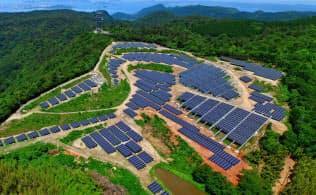 いちごグリーンインフラ投資法人が取得した太陽光発電所(高松市)