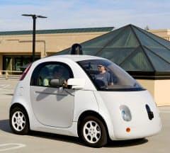 グーグルが開発した自動運転車のプロトタイプ