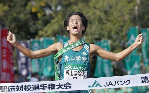 青学大の一色は学生ランナーの中でも走力、精神力ともに群を抜く=共同