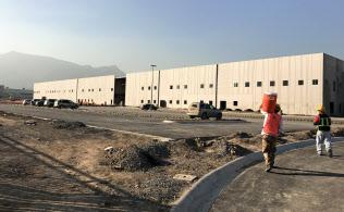 キヤリアのメキシコ新工場は工事が続いていた(メキシコ北部サンタカタリーナ市)