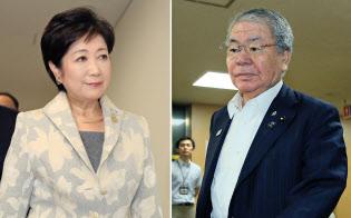 2月5日の千代田区長選は、小池都知事(写真左)と内田都議の代理戦争の様相