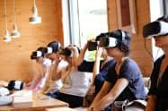 昨年8月、リクルートホールディングスは自社研修でシルバーウッドのVRコンテンツを使った