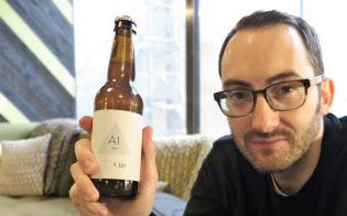 AIでレシピを作ったビールを販売するインテリジェントXブルーイング共同創業者、ヒュー・リース氏