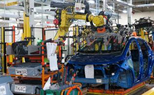 GMの目標はロボットや装置が自らカイゼンを提案する工場だ(ミシガン州のオリオン工場)
