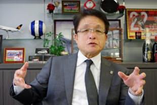 淵田社長は「未来の描き方を変える」と成長への投資に意欲を示す