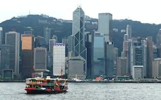 香港島と九龍半島の両岸を結ぶスターフェリー