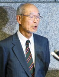 霞ケ関CCの木村理事長(1月31日、さいたま市)=共同
