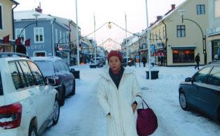 スウェーデン・カルマルの街で。クリスマス近くは街中が華やぐ