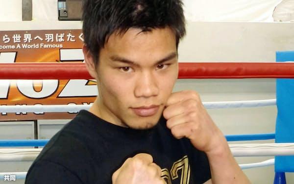 WBOバンタム級のタイトルマッチが決まった大森将平(22日、京都市)=共同