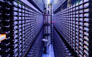 AIの開発やサービスに力を入れるグーグルのデータセンター(米オクラホマ州)