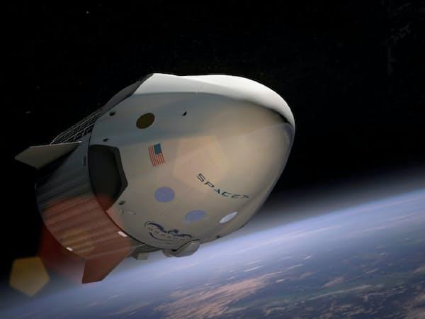 スペースXが開発中の有人宇宙船(イメージ図)