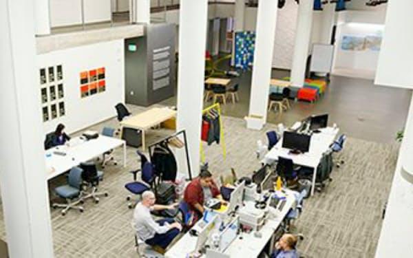 米シリコンバレーの自由な職場環境が、ブロックストリームら次世代ITベンチャー発掘を先導する(デジタルガレージの米オフィス風景)
