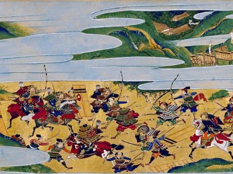 22日から4月16日まで京都文化博物館で展示される「真如堂縁起 下巻」=部分、重要文化財、掃部助久国/筆、三条西実隆・公助/詞書、外題/後柏原天皇/筆、大永4年(1524)真正極楽寺蔵