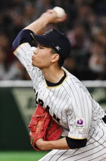 東京で見事な投球を見せた千賀は米国戦でも好投した