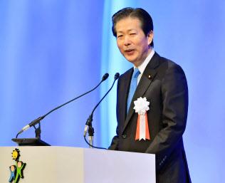 都議選では小池知事と連携する公明党の山口那津男代表
