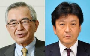 東京電力ホールディングスの川村隆次期会長(写真左)と小早川次期社長
