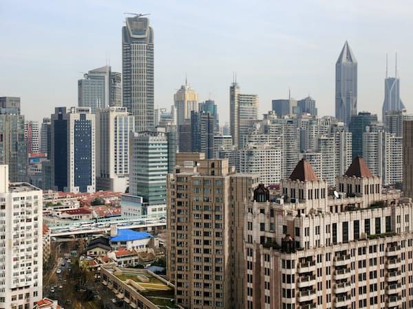 上海市内のビル群