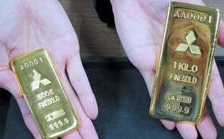 ETF、純金積立、金限日取引では純金の延べ棒と交換も可能だ