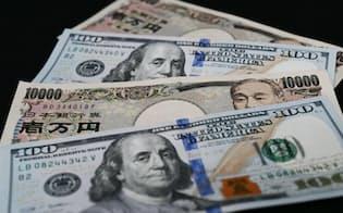 ドル紙幣と円