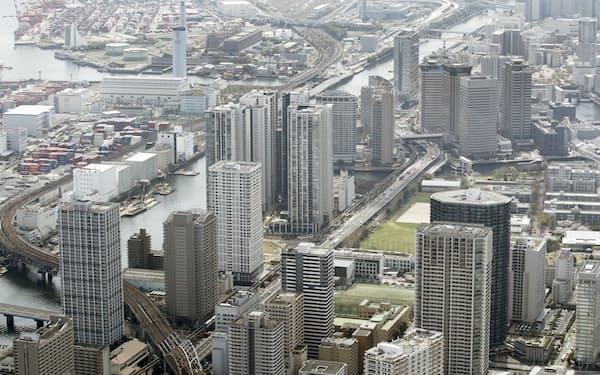 品川駅南側の高層マンション(東京都港区)