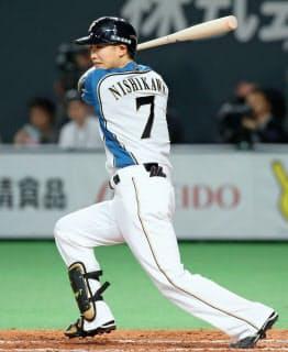 西川は俊足好打の人気選手=共同