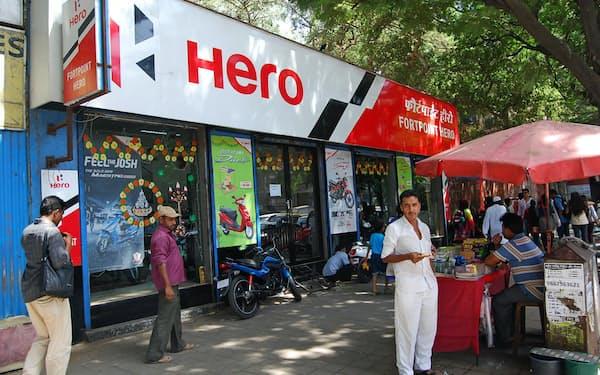 インド二輪最大手のヒーロー・モトコープは17年3月期に販売台数が過去最高となった(4月、ムンバイ)