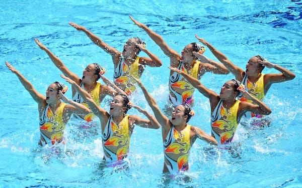 シンクロナイズドスイミングの演技判定にもAIが導入されるかもしれない                                                       (リオ五輪での日本チームの演技)
