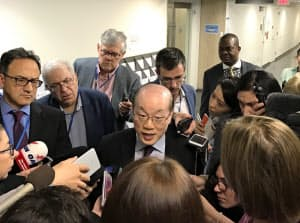 中国の劉結一国連大使(ニューヨークの国連本部)