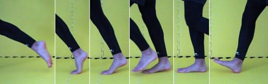 足の先端の意識は指先に置くべき