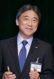講演するNTTドコモの吉沢和弘社長(29日午前、東京都千代田区)