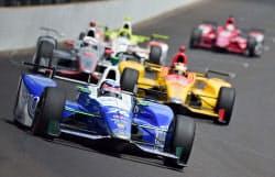 自動車のインディ500で日本人初優勝を果たした佐藤琢磨のマシン(28日、米インディアナポリス)=ゲッティ共同