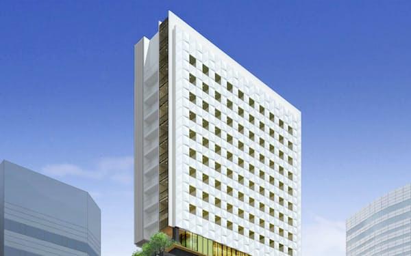 名古屋三交ビルを建て替えてつくる複合ビル(イメージ図)