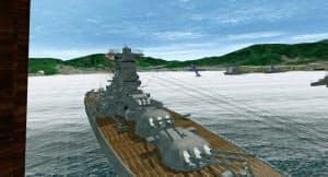 広島県立福山工業高の生徒が制作した戦艦大和のVR作品(同校提供)=共同