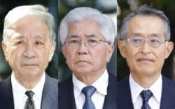 JR西日本歴代3社長の(左から)井手正敬氏、南谷昌二郎氏、垣内剛氏