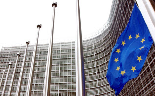 ブリュッセルの欧州委員会本部=AP
