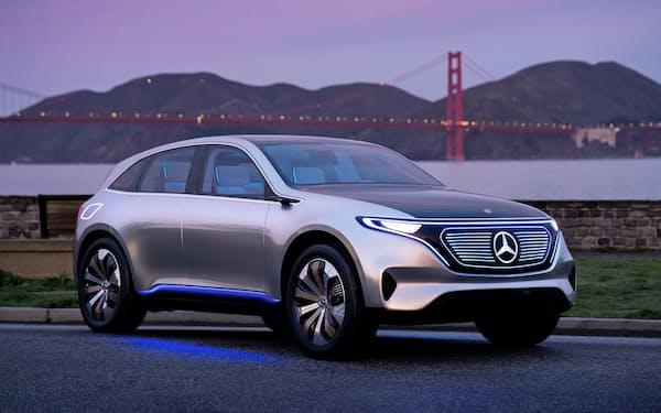 ダイムラーの電気自動車のコンセプトモデル(ダイムラー提供)