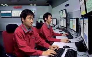 オフィスビルの空調やエレベーターを24時間体制で監視する