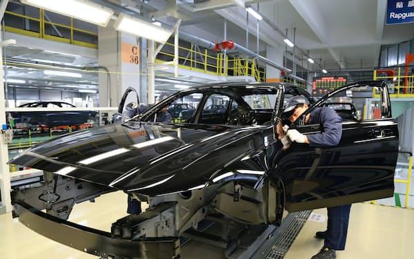 吉利はボルボ・カーの車両を中国東北部などで生産している(黒竜江省大慶市の工場)
