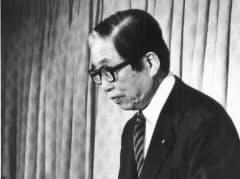 都議選、参院選で自民党は大敗。宇野宗佑首相は「明鏡止水の心境」と言い残して退陣した(1989年7月24日、党本部)