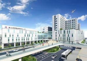 「北大阪健康医療都市・健都」のイメージ=国立循環器病研究センター提供