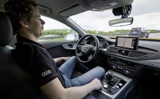 独アウディはレベル3の機能を搭載する新車種を投入する(同社の実験車両)