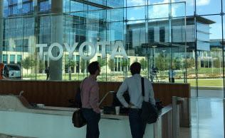 ガラスを多用したトヨタ自動車の北米新本社(米テキサス州プレイノ)