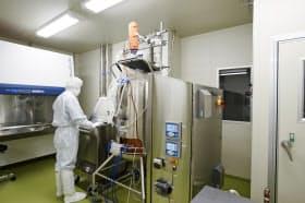 遺伝子操作を行うタカラバイオの新研究棟