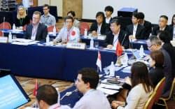 7月に日本で開いたTPP首席交渉官会合(神奈川県箱根町)