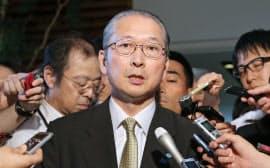再選が内定した連合の神津会長(7月13日)