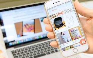 メルカリのフリーマーケットアプリは、スマホ上で個人が気軽に出品し、即座に買えるのが特徴